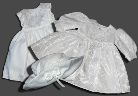 Christening Clothes Photographed and Montaged For a Quality Image