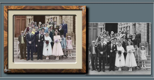 Adding Colour To Black And White Wedding Photos - Restoration